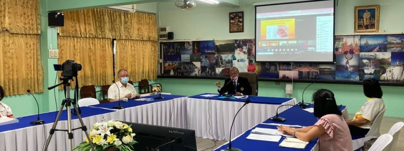 โรงเรียนหอพระ ประชุมเตรียมความพร้อมก่อนเปิดเรียน ภาคเรียน1/2564 ผ่านระบบ Microsoft Team